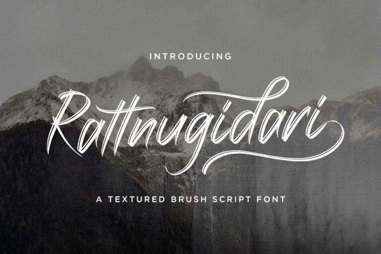 Preview image of Rattnugidari – Brush Script Font