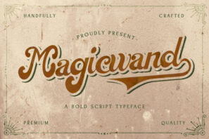 Magic Wand - Bold Script Font