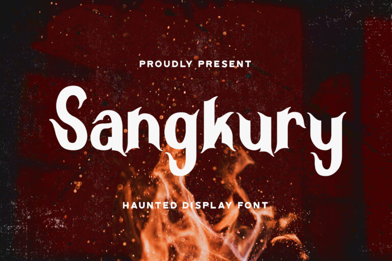 Preview image of Sangkury – Haunted Display Font