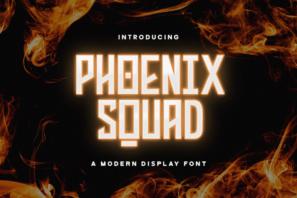 Phoenix Squad - Modern Display Font