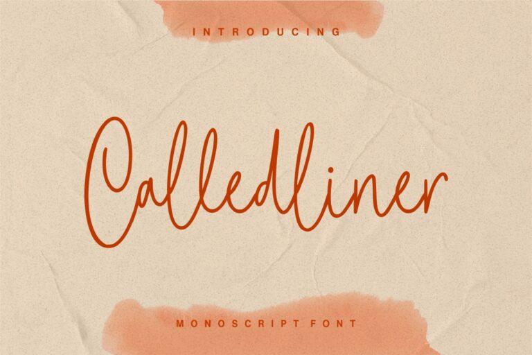 Preview image of Calledliner – Monoscript Font