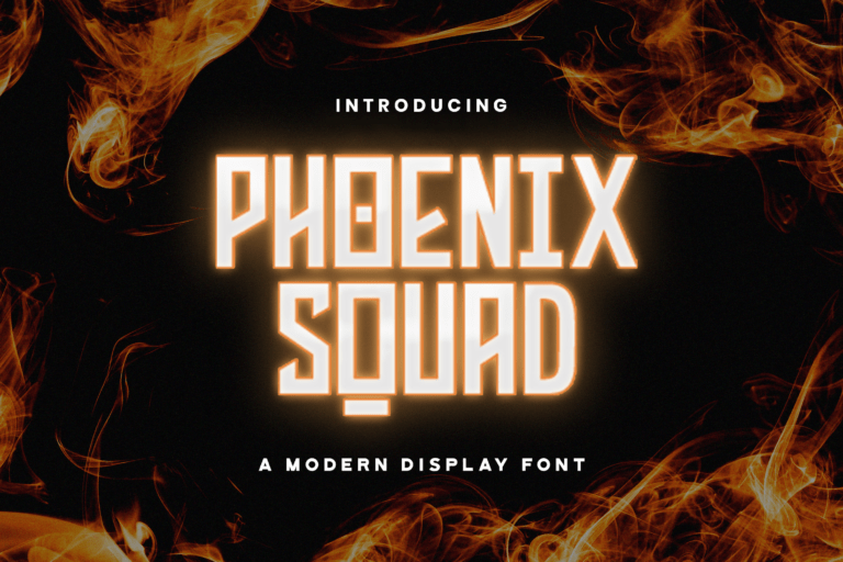 Preview image of Phoenix Squad – Modern Display Font