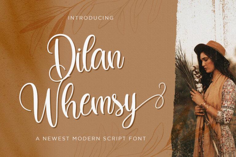 Preview image of Dilan Whemsy – Modern Script Font