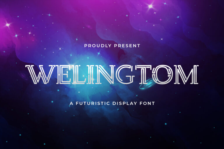 Preview image of Welingtom – Futuristic Display Font