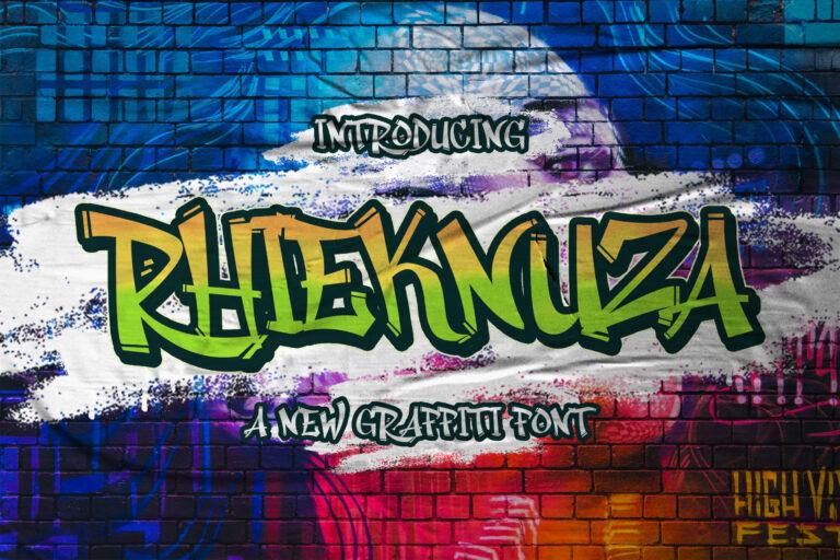 Preview image of Rhieknuza – Graffiti Font