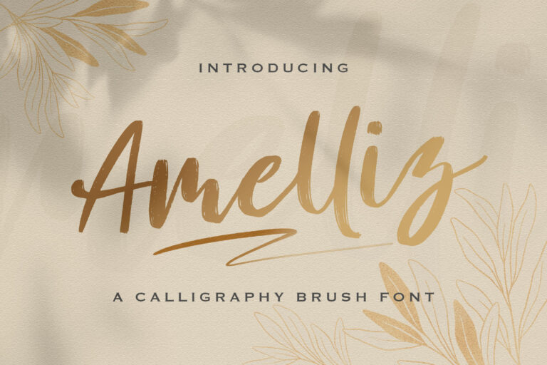 Preview image of Amelliz – Calligraphy Brush Font