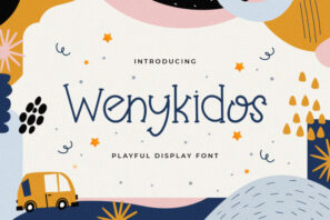 Wenykidos - Playful Display Font