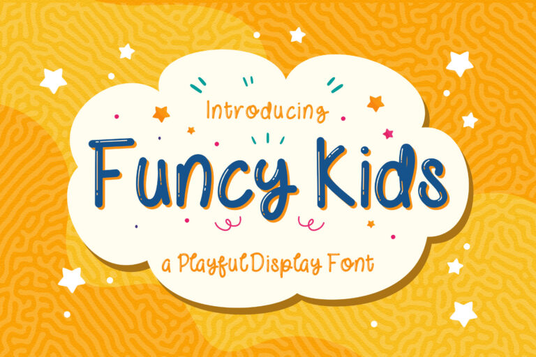 Preview image of Funcy Kids! – Playful Display Font