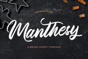 Manthesy - Brush Script Font