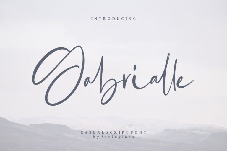 Preview image of Gabrialle – Casual Script Font