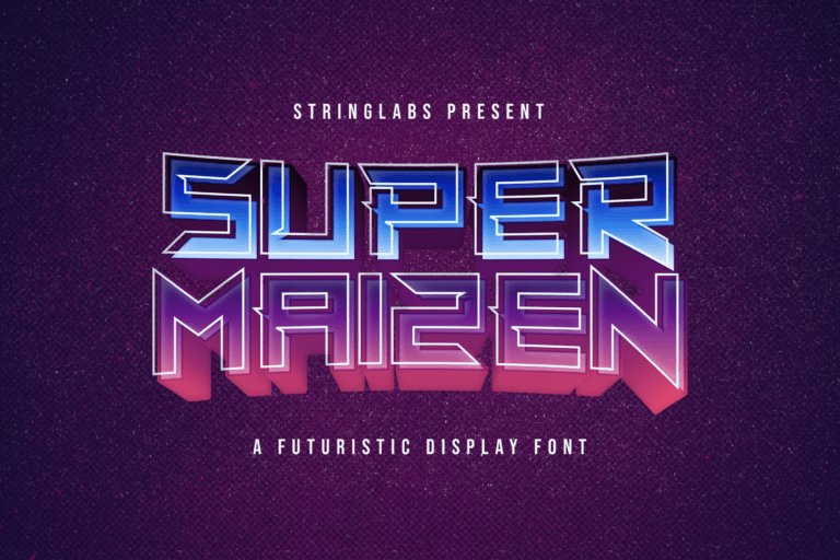Preview image of Super Maizen – Futuristic Display Font