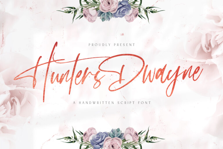 Preview image of Hunthers Dwayne – Handwritten Font