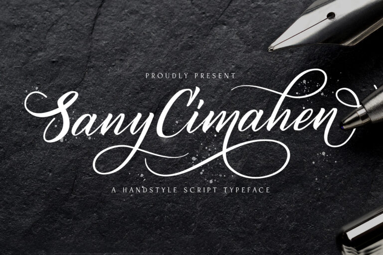 Preview image of Sany Cimahen – Handwritten Font