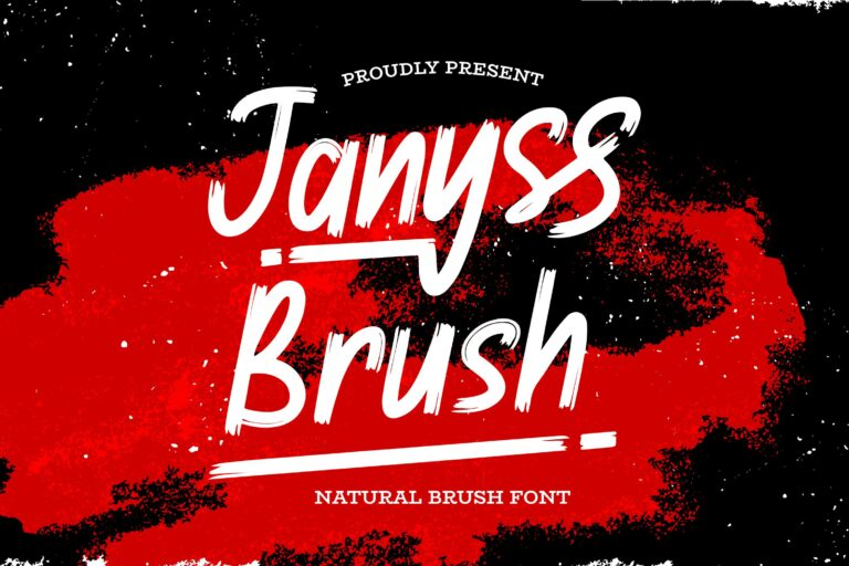 Preview image of Janyss Brush – Natural Brush Font
