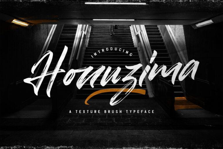 Preview image of Honuzima – Handbrush Script Font