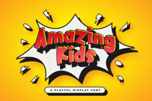 Amazing Kids - Playful Display Font