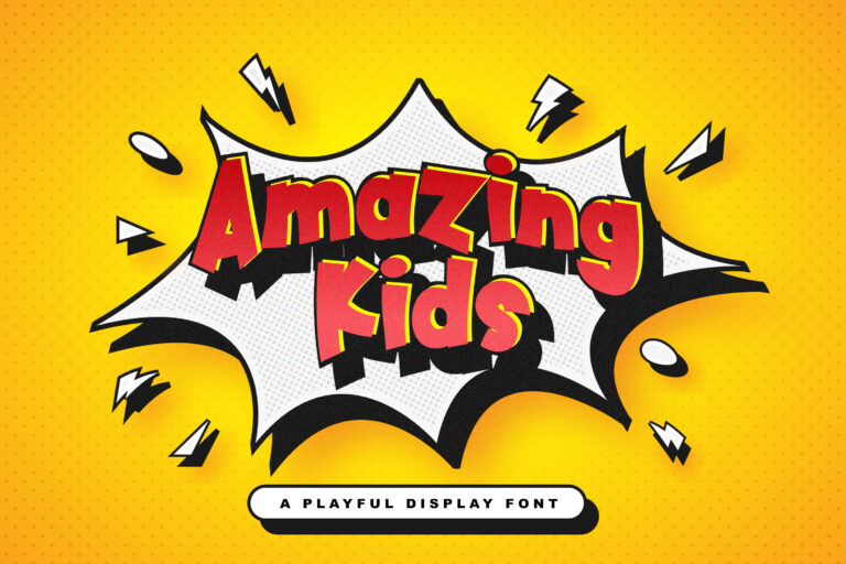 Preview image of Amazing Kids – Playful Display Font