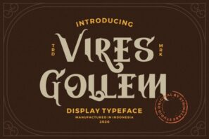Vires Gollem - Display Font
