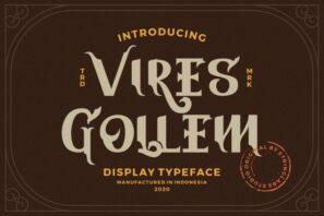 Vires Gollem - Display Font