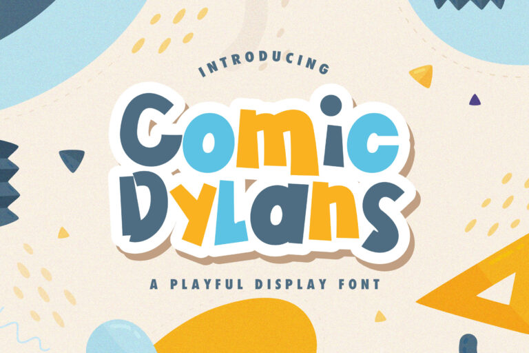 Preview image of Comic Dylans – Playful Display Font