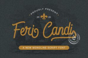 Feri Candi - Monoline Script Font