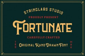 Fortunate - Original Hand Drawn Retro Font