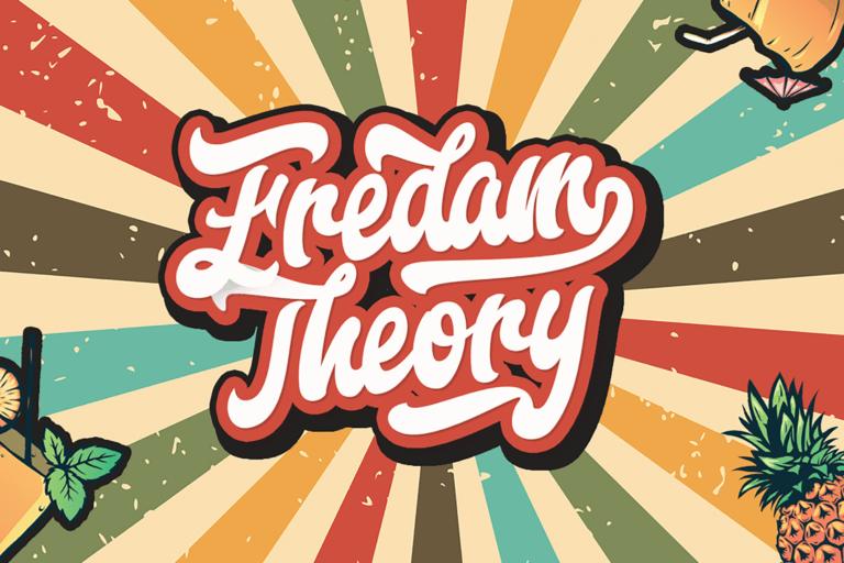 Preview image of Fredam Theory – Retro Bold Script Font