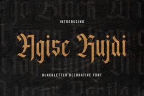 Agise Rujdi - Blackletter Font