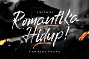 Romantika Hidup - Dry Brush Script Font