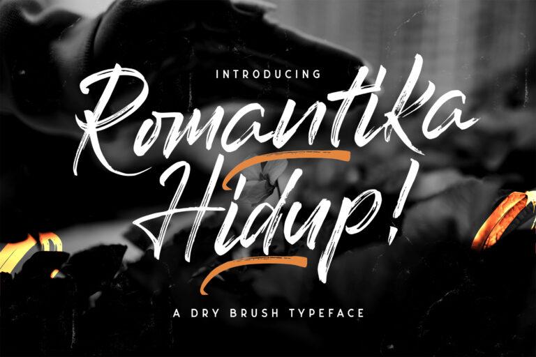 Preview image of Romantika Hidup – Dry Brush Script Font