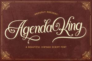 Agenda King - Vintage Script Font