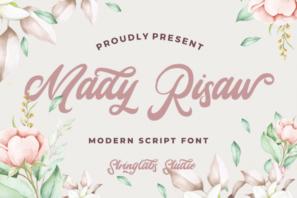 Mady Risaw - Modern Script Font