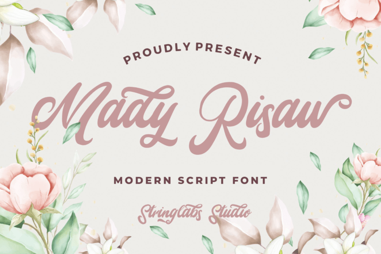 Preview image of Mady Risaw – Modern Script Font