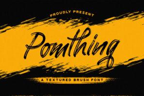 Pomthinq - Brush Script Font