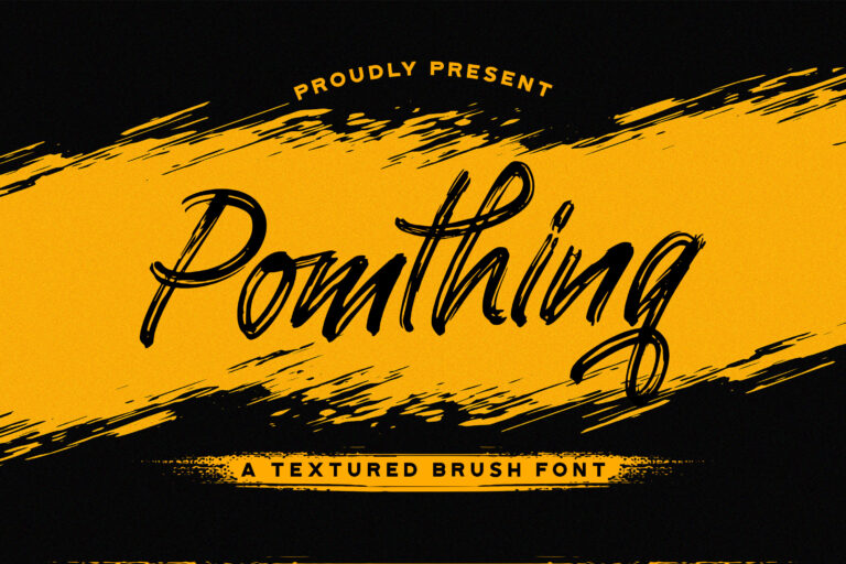 Preview image of Pomthinq – Brush Script Font