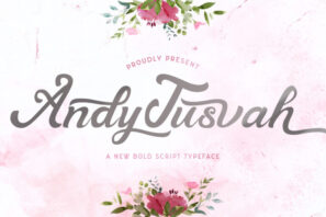 Andy Tusvah - Bold Script Font