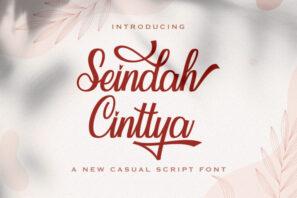 Seindah Cinttya - Casual Script Font