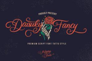Daisuky Fancy - Tatto Script Font