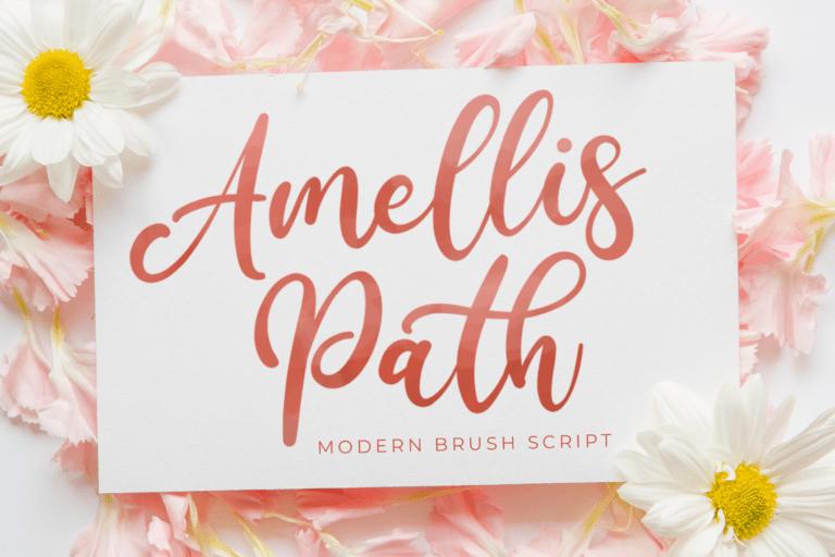 Preview image of Amellis Path – Brush Script Font