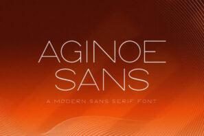 Aginoe - Modern Sans Serif Font