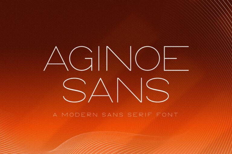 Preview image of Aginoe – Modern Sans Serif Font