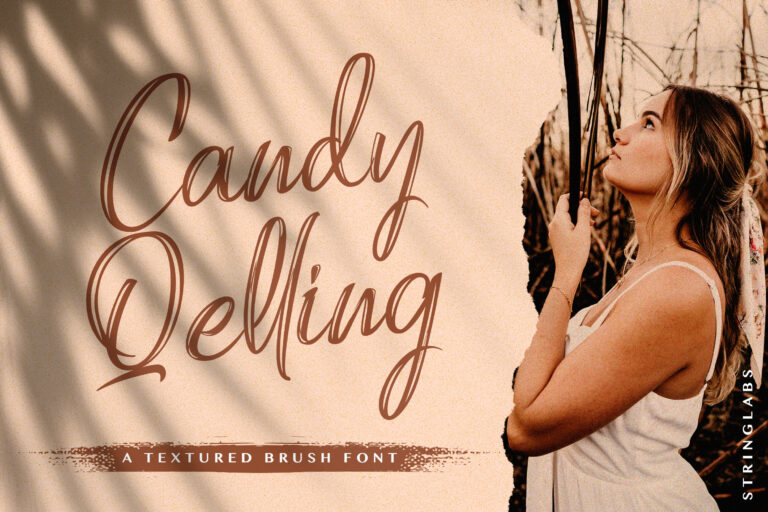 Preview image of Candy Qelling – Brush Script Font