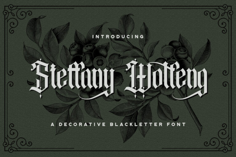 Preview image of Steffany Wolfeng – Blackletter Font