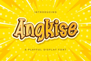 Angkise - Playful Display Font
