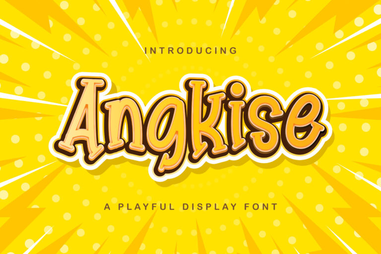 Preview image of Angkise – Playful Display Font