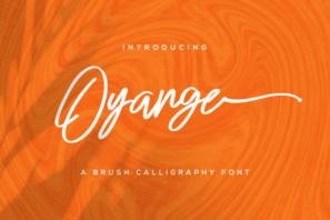 Oyange - Brush Calligraphy Font