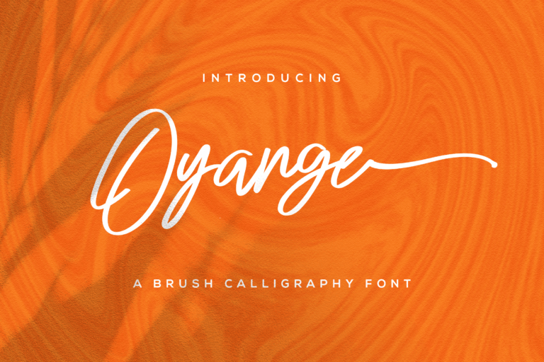 Preview image of Oyange – Brush Calligraphy Font