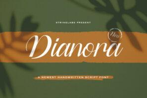 Dianora - Handwritten Font