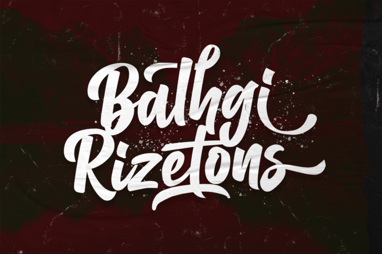 Preview image of Balhgi Rizetons – Bold Script Font