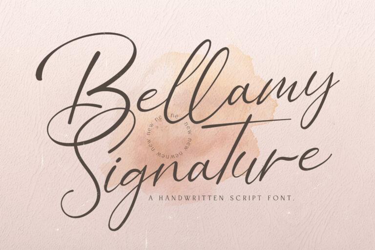 Preview image of Bellamy Signature – Handwritten Font